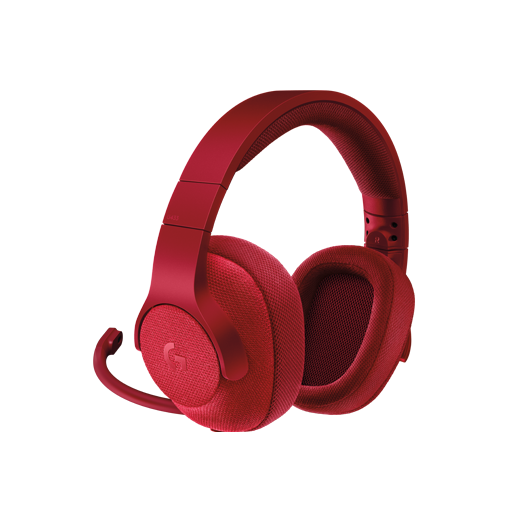 Logitech G433 7.1 Surround Gaming Headset, Red
