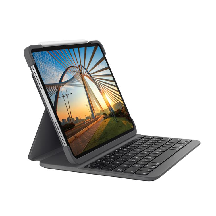 Logitech iPad Pro 12.9'' Slim Folio (3rd/4th gen.), Graphite (Nordic)