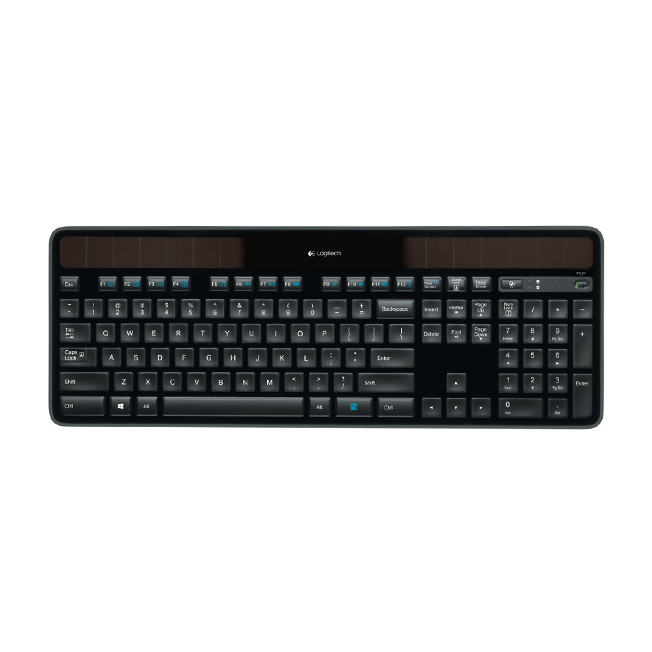 Logitech K750 Solar Wireless keyboard - Trådløs Tastatur
