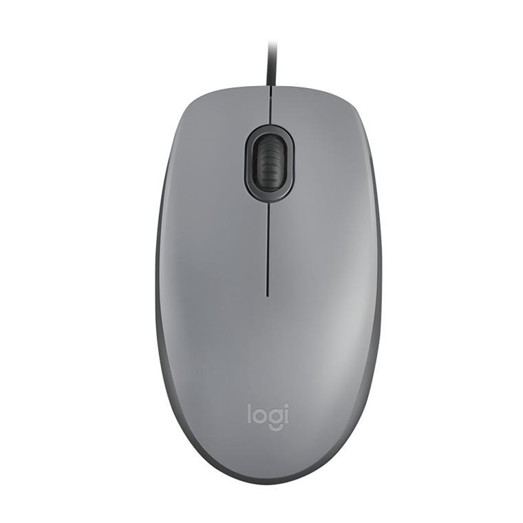 Logitech M110 Silent Wireless Mouse, Mid Gray