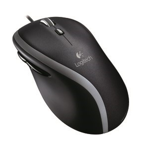 Logitech M500 Corded Mouse, black