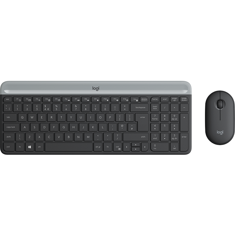 Logitech MK470 Slim Wireless Desktop Set, Graphite (Nordic)