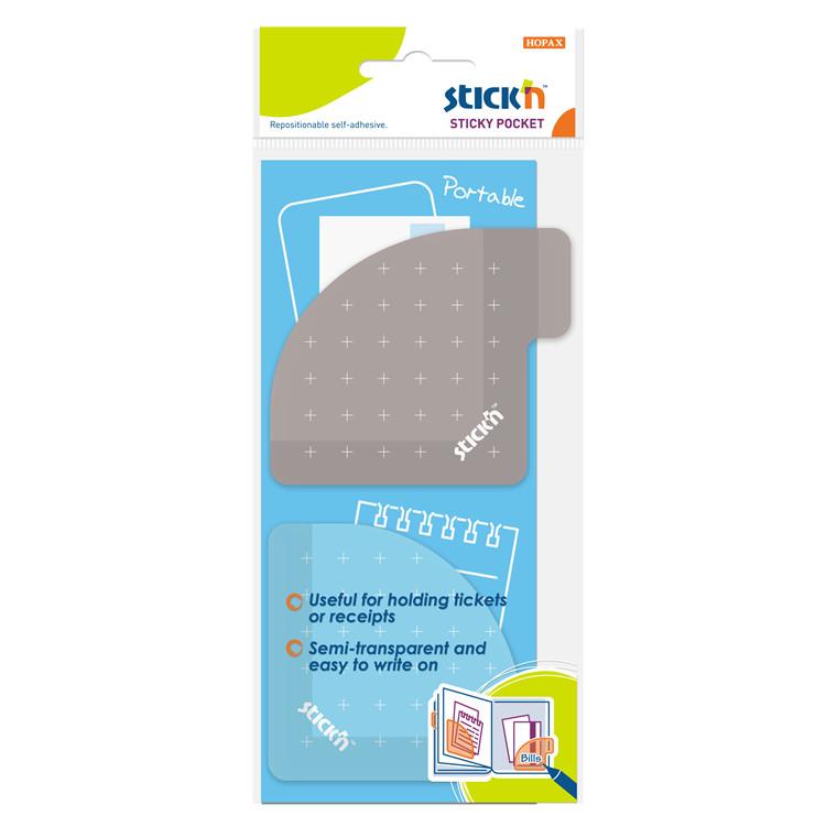 Lomme Stick'N Sticky 70x70 lilla grå selvklæb. 5stk