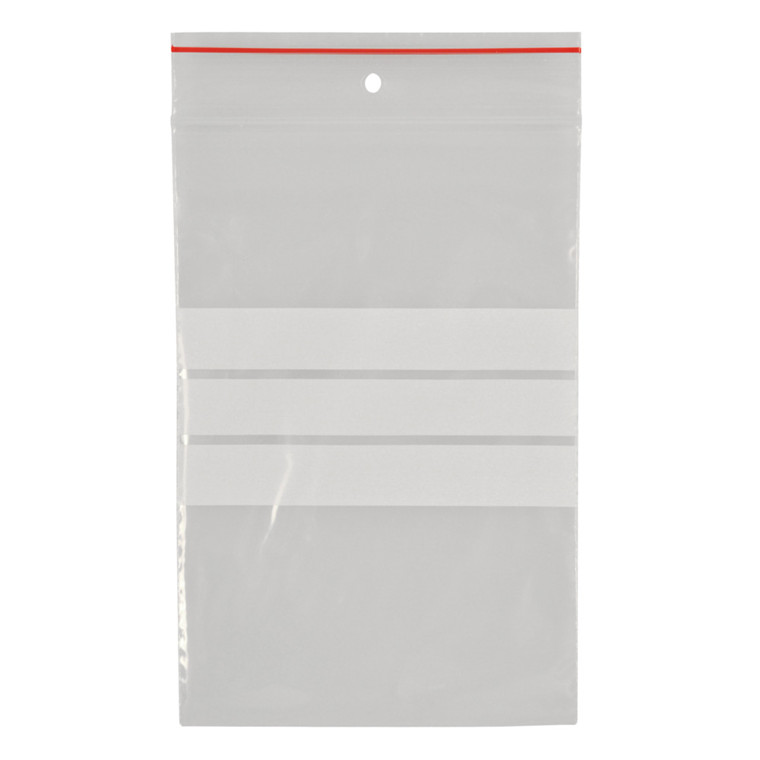Lynlåspose, Easy-Grip, med skrivefelt, i displayboks, LDPE, transparent, 50 my, 8x12 cm,