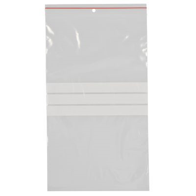 Lynlåspose, Easy-Grip, med skrivefelt, i displayboks, LDPE, transparent, 50 my, 17,50x30 cm,