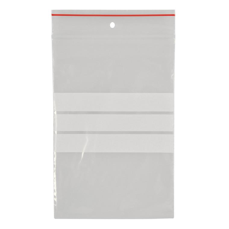Lynlåspose, Easy-Grip, med skrivefelt, i displayboks, LDPE, transparent, 50 my, 8x12 cm,