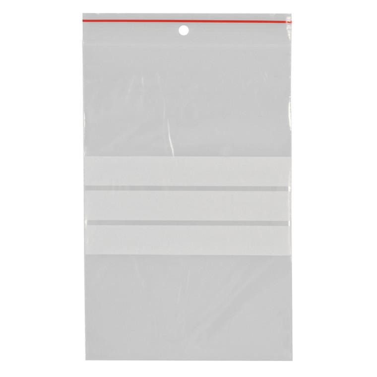 Lynlåspose, Easy-Grip, med skrivefelt, i displayboks, LDPE, transparent, 50 my, 12x18 cm,