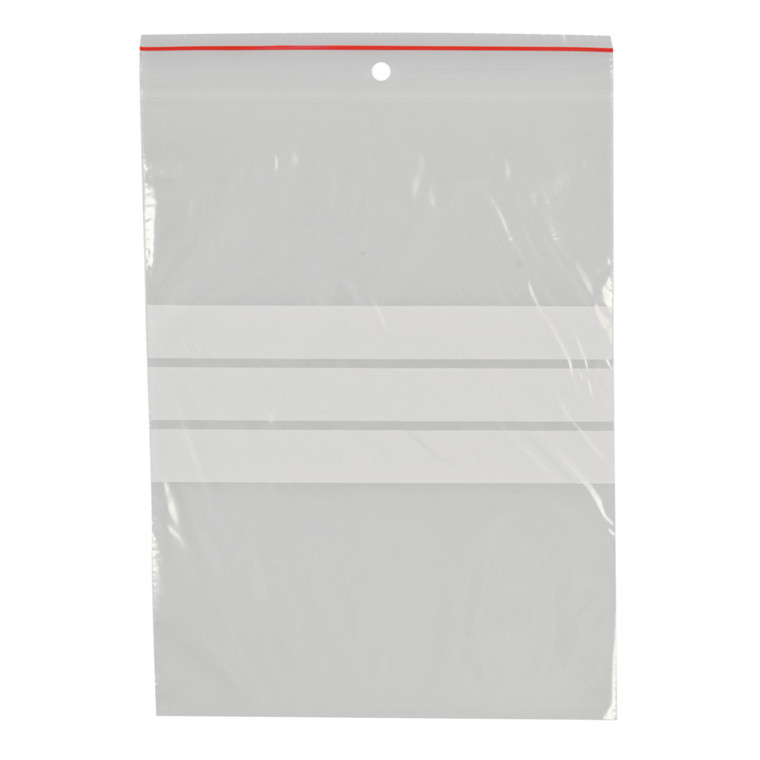 Lynlåspose, Easy-Grip, med skrivefelt, i displayboks, LDPE, transparent, 50 my, 15x20 cm,