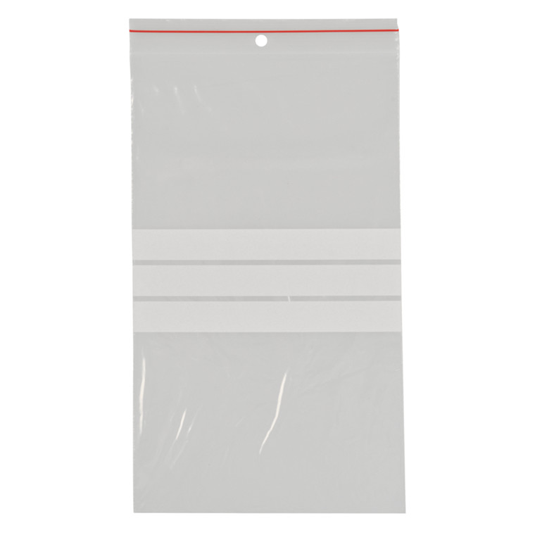 Lynlåspose, Easy-Grip, med skrivefelt, i displayboks, LDPE, transparent, 50 my, 15x25 cm,