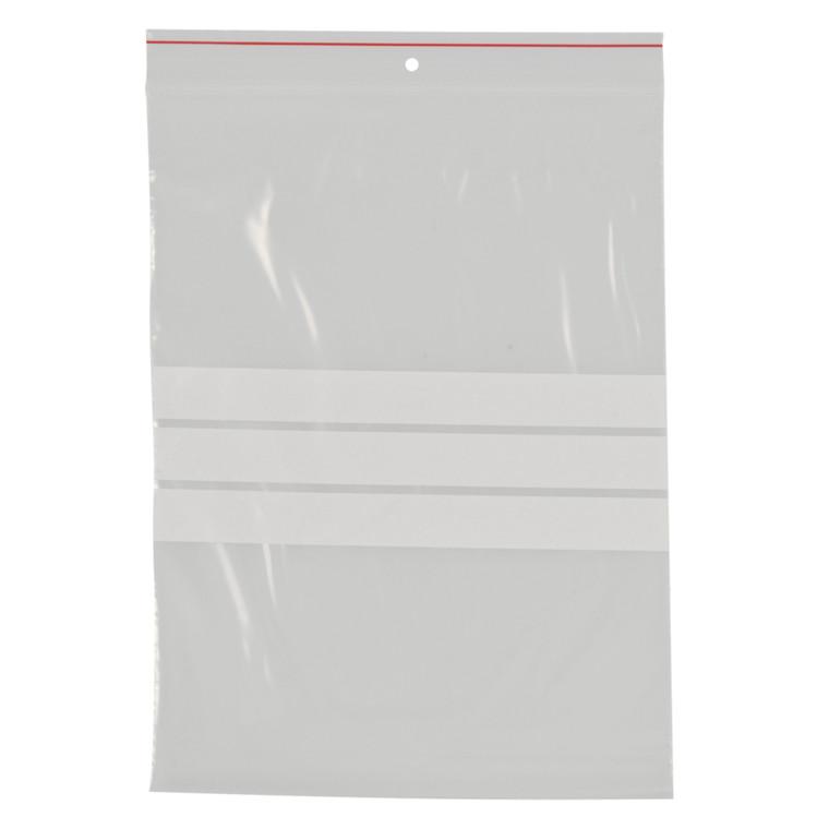 Lynlåspose, Easy-Grip, med skrivefelt, i displayboks, LDPE, transparent, 50 my, 17x23 cm,