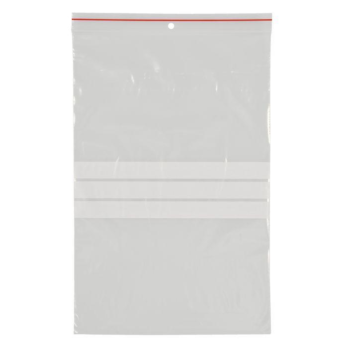 Lynlåspose, Easy-Grip, med skrivefelt, i displayboks, LDPE, transparent, 50 my, 20x30 cm,