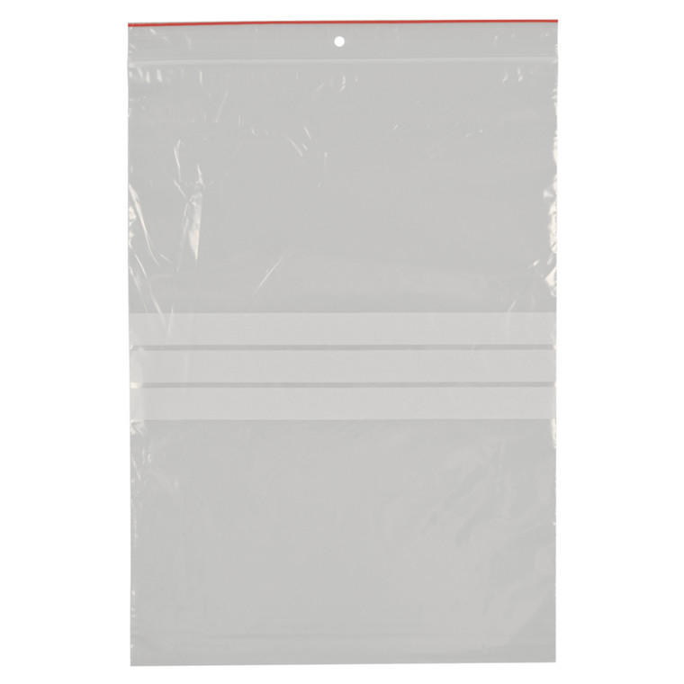 Lynlåspose, Easy-Grip, med skrivefelt, i displayboks, LDPE, transparent, 50 my, 23x32 cm,