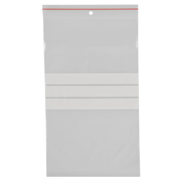 Lynlåspose, Easy-Grip, med skrivefelt, i displayboks, LDPE, transparent, 90 my, 15x25 cm,