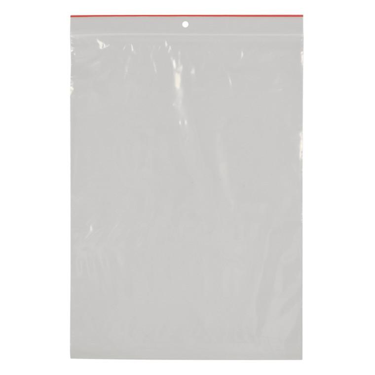 Lynlåspose, Easy-Grip, uden skrivefelt, i displayboks, LDPE, transparent, 50 my, 23x32 cm,