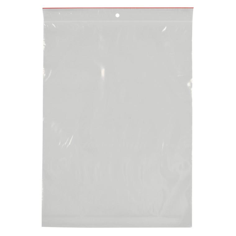 Lynlåspose, Easy-Grip, uden skrivefelt, i displayboks, LDPE, transparent, 50 my, 25x35 cm,