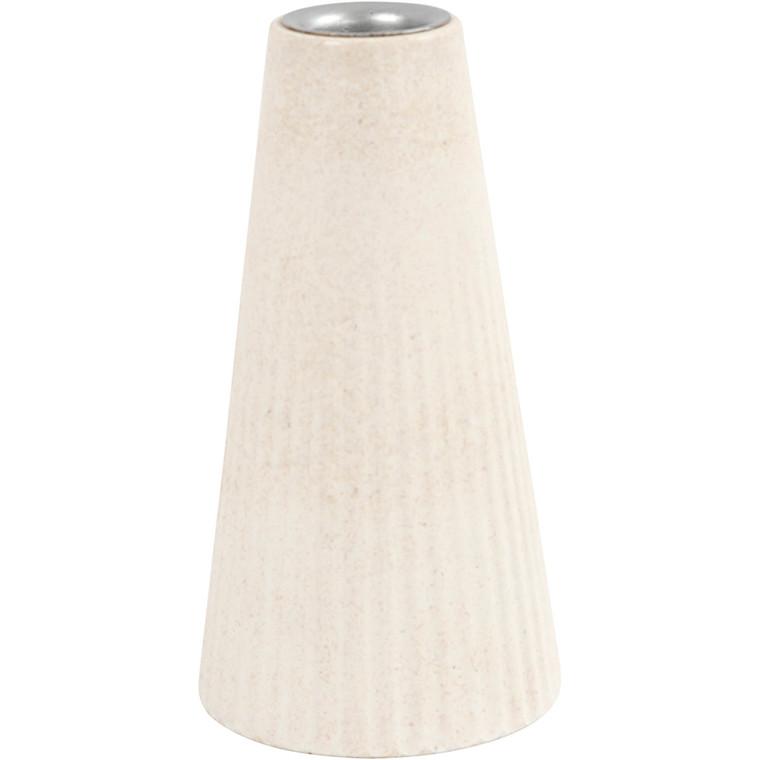 Lysestage, diam. 7 cm, H: 13 cm, bambusfibre, 1stk.
