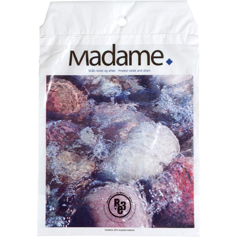 Madamepose, vand /sten tryk, 5 l, hvid, LDPE/RE3, 24,5x35cm, med tryk, med huller til holder
