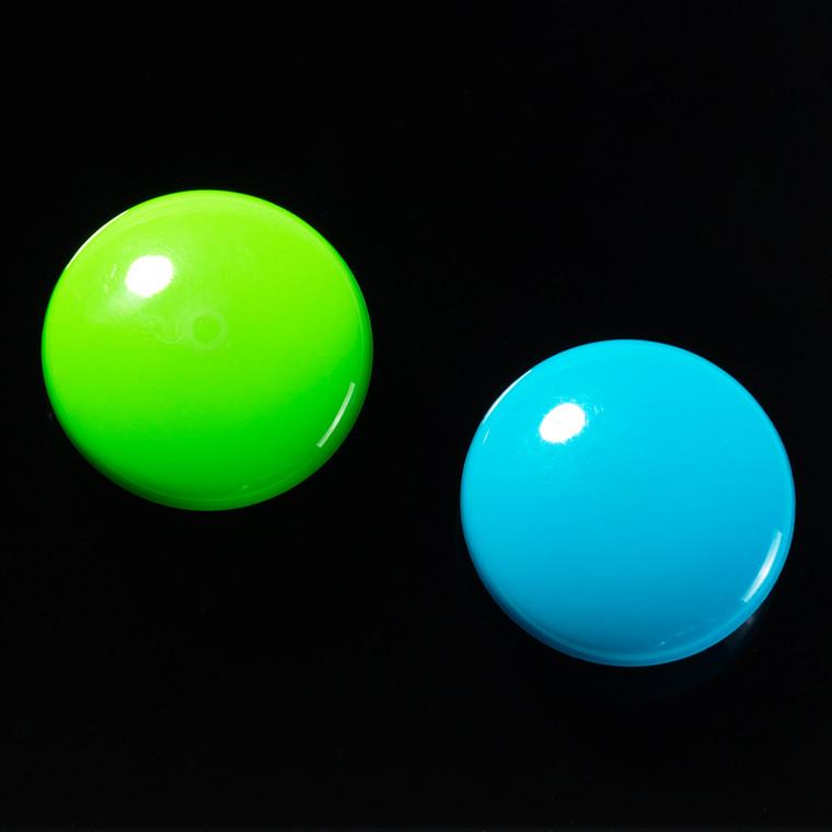 Magnet rund Naga polyresin superstrong 1 grøn+1 blå