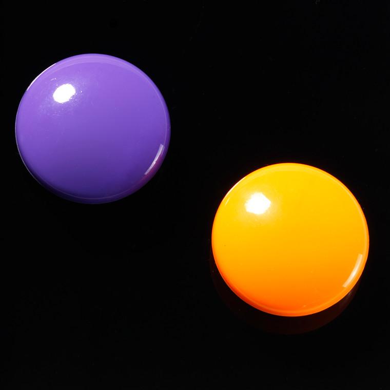 Magnet rund Naga polyresin superstrong 1 lilla+1 orange