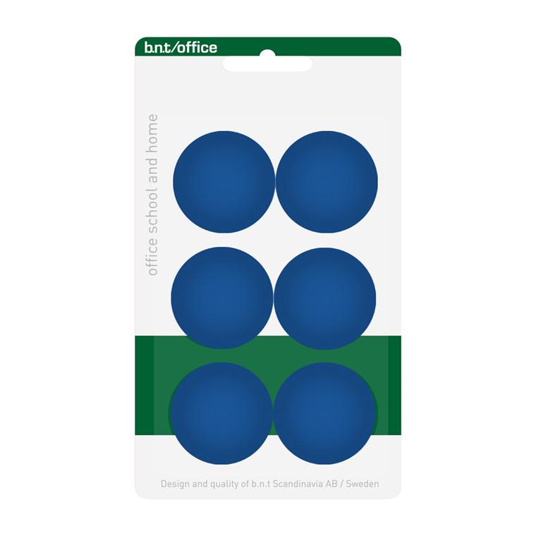 Magneter BNT - blå runde diameter på 3 cm - 6 stk.