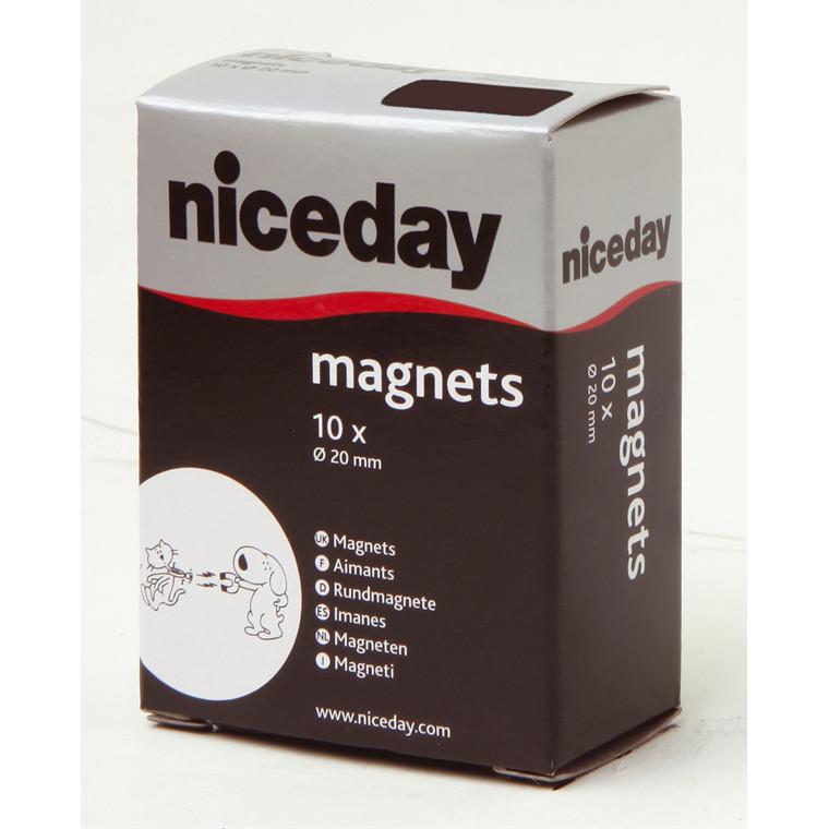 Magneter - niceday sort Ø 2 cm 980590 - 10 stk.