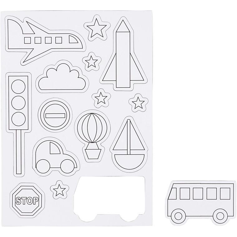 Magneter, str. 14,85x21 cm, transport, 1ark