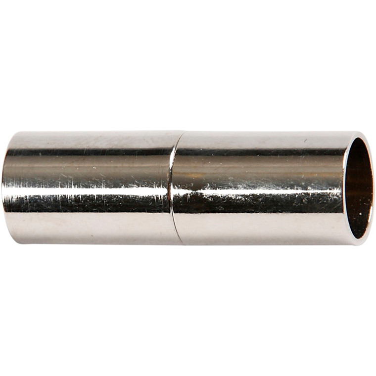 Magnetlås, L: 20 mm, hulstr. 5 mm, forsølvet, FS, 2stk.
