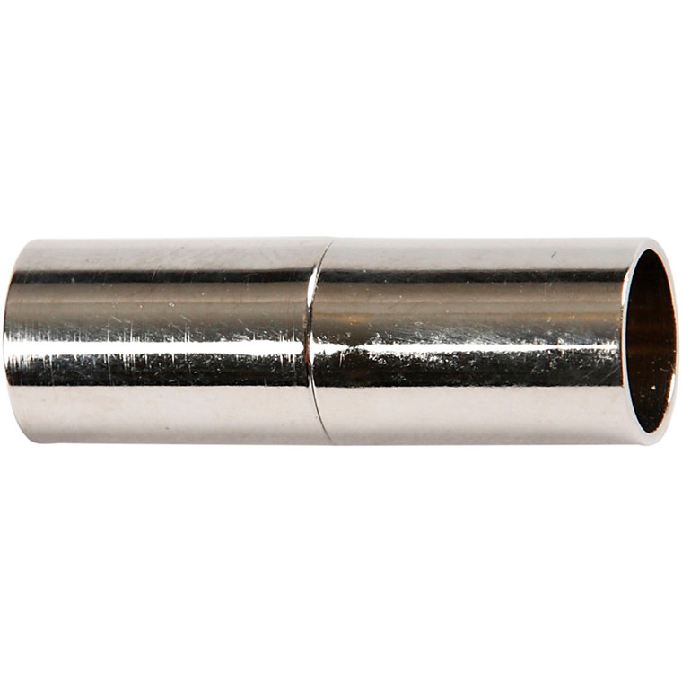 Magnetlås, L: 23 mm, hulstr. 6 mm, forsølvet, FS, 2stk.