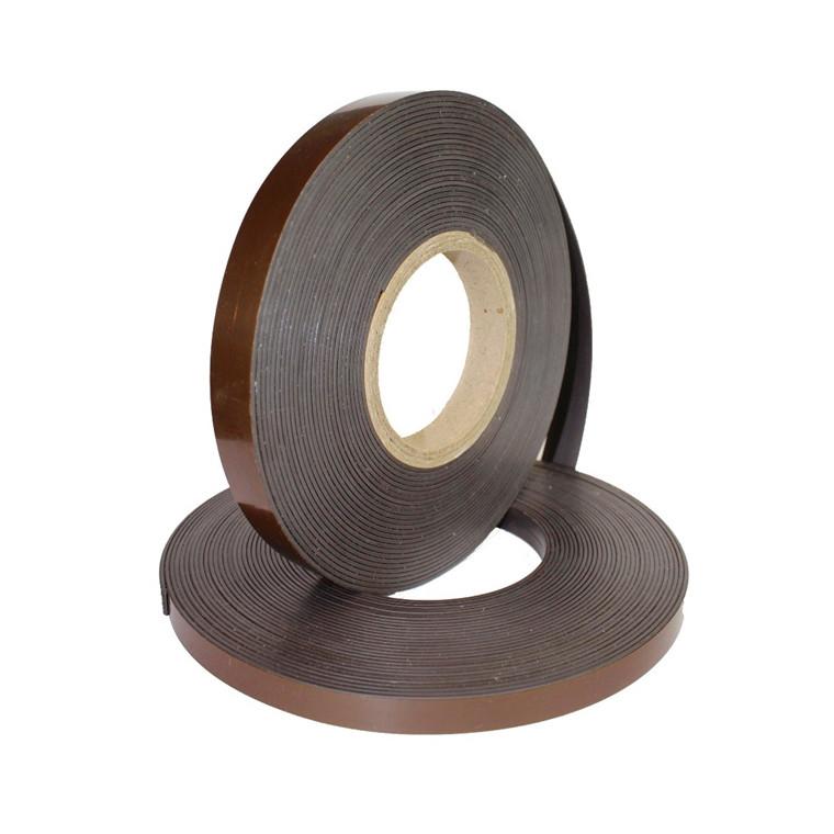 Magnettape i brun - 20 mm x 30 meter - 1,5 mm almindelig