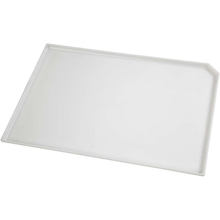 Malerbakke, str. 22,5x33 cm, hvid, 1stk.