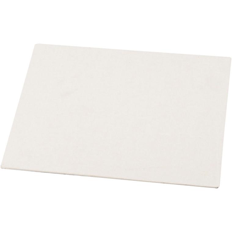Malerplade, A5 15x21 cm, tykkelse 3 mm, hvid, 1stk., 280 g