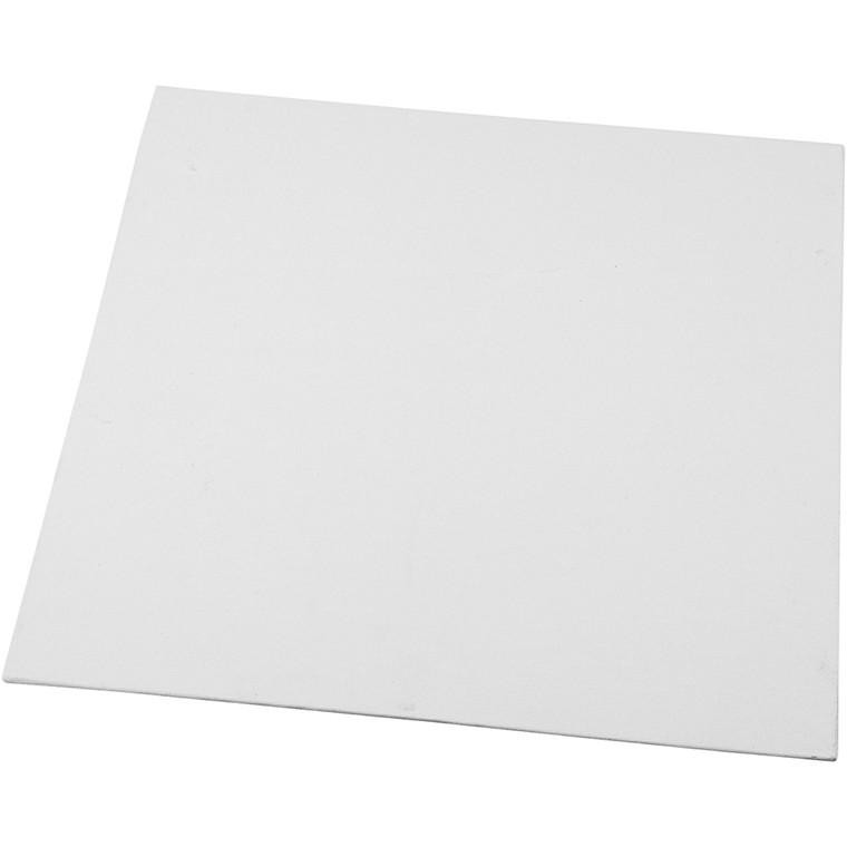 Malerplade, str. 30x30 cm, tykkelse 3 mm, hvid, 1stk., 280 g