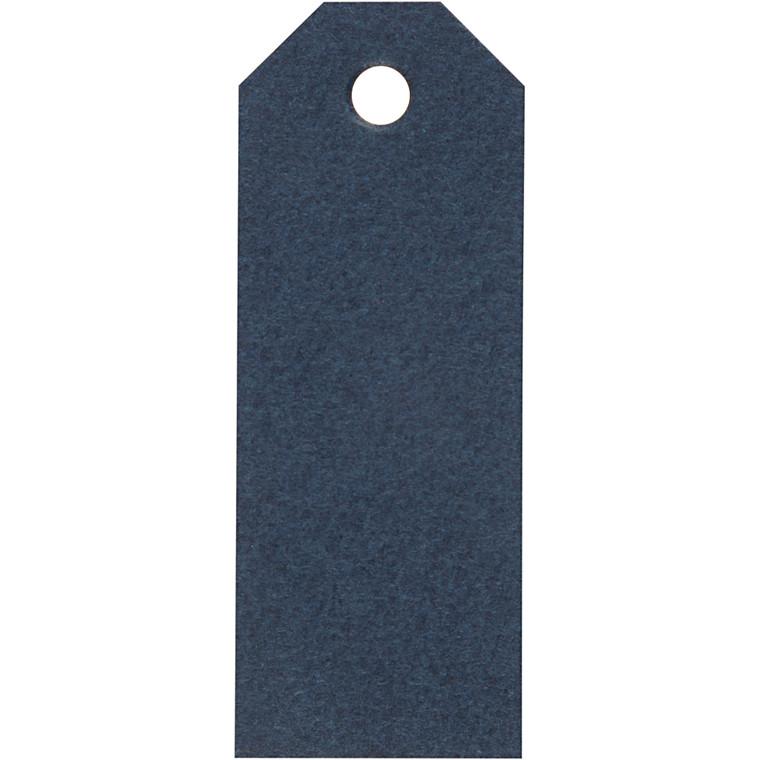 Manilamærker, blå, str. 3x8 cm, 220 g, 20stk.