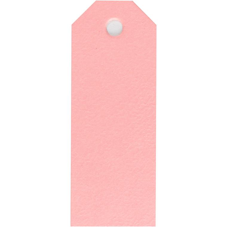 Manilamærker, rosa, str. 3x8 cm, 220 g, 20stk.