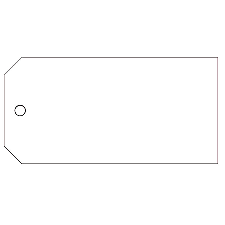 Manillamærker PP m/1 hul hvid 60x120mm 1000stk/æsk