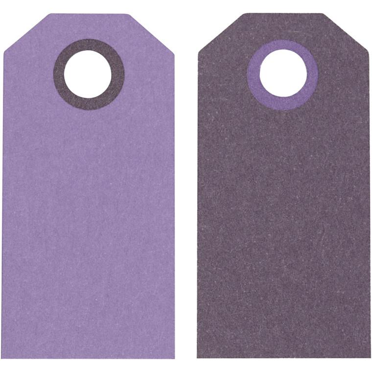 Manillamærker størrelse 6 x 3 cm 250 gram lilla/mørk lilla - 20 stk.