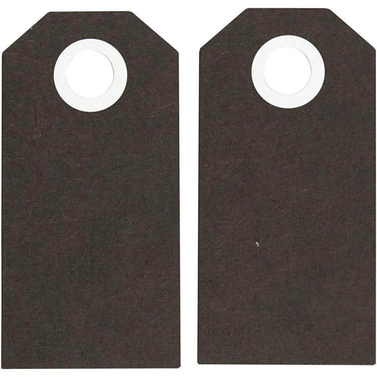 Manillamærker størrelse 6 x 3 cm 250 gram sort - 20 stk.