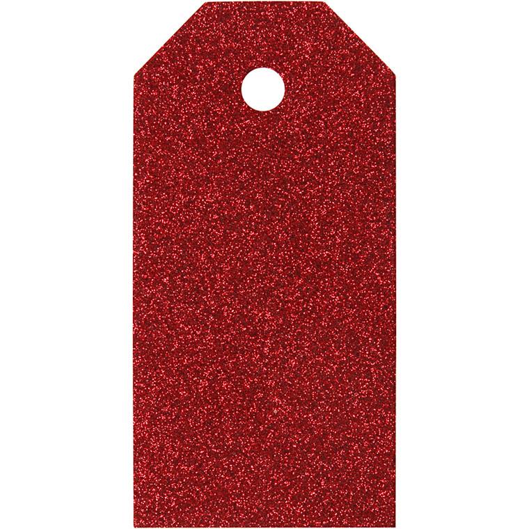 Manillamærker størrelse 5 x 10 cm 300 gram rød - 15 stk.