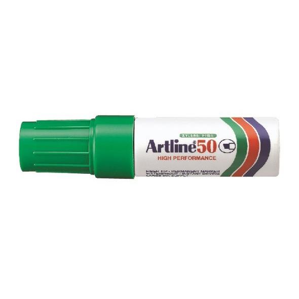Marker Artline 50 Permanent 6.0 grøn