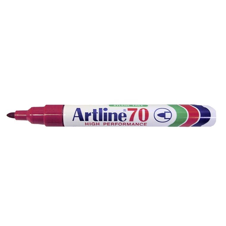 Marker Artline 70 permanent rød 1,5mm