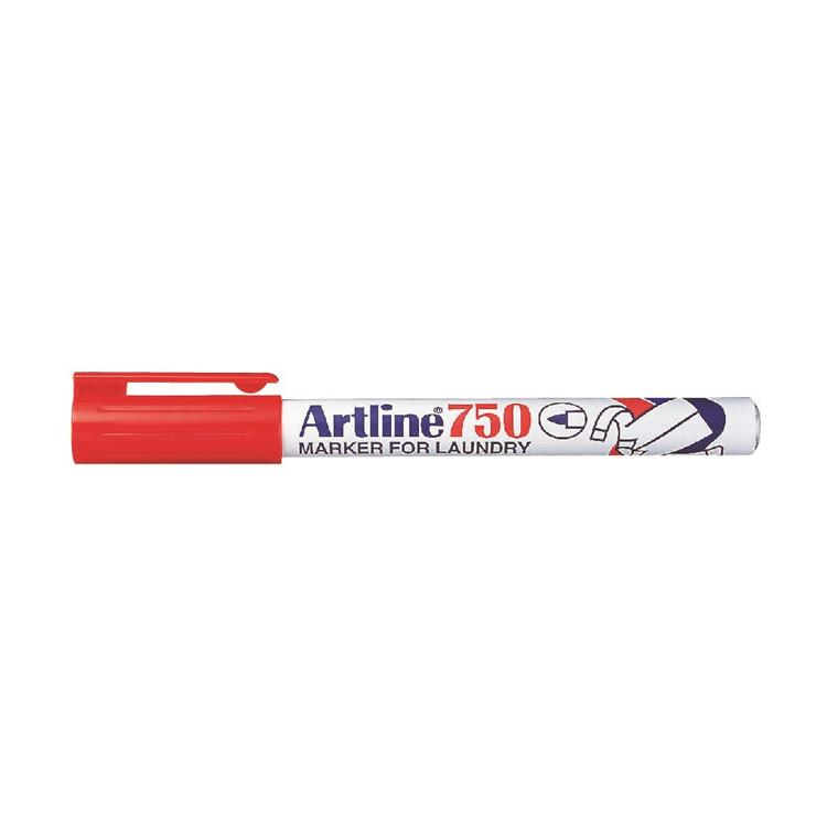 Marker Artline 750 Tekstil rød