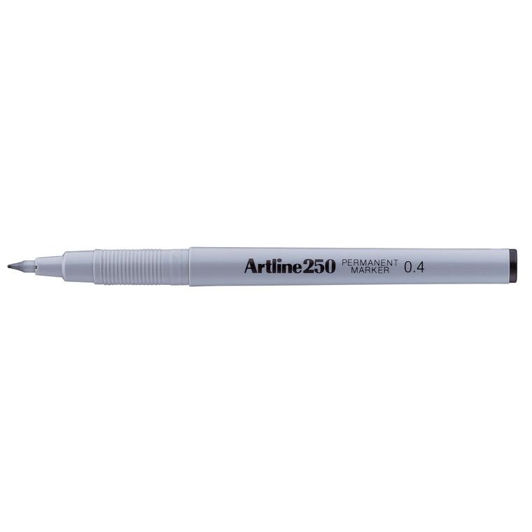 Artline 250 - Sort permanent marker 0,4 mm