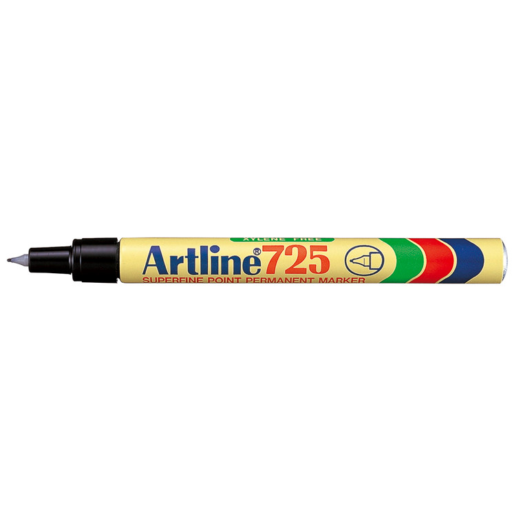 Marker Artline EK725 sort permanent 0,4mm spids