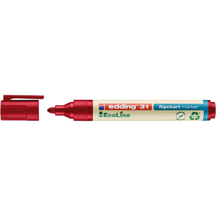 Marker edding 31 Flipchart EcoLine rød 1,5-3mm rund spids