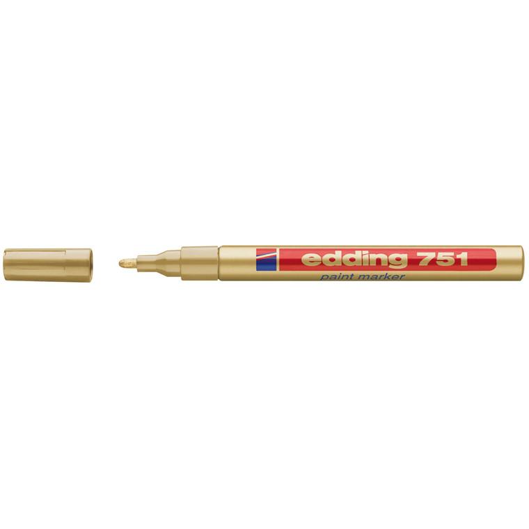 Edding 751 permanent marker - Guld rund spids 1-2 mm