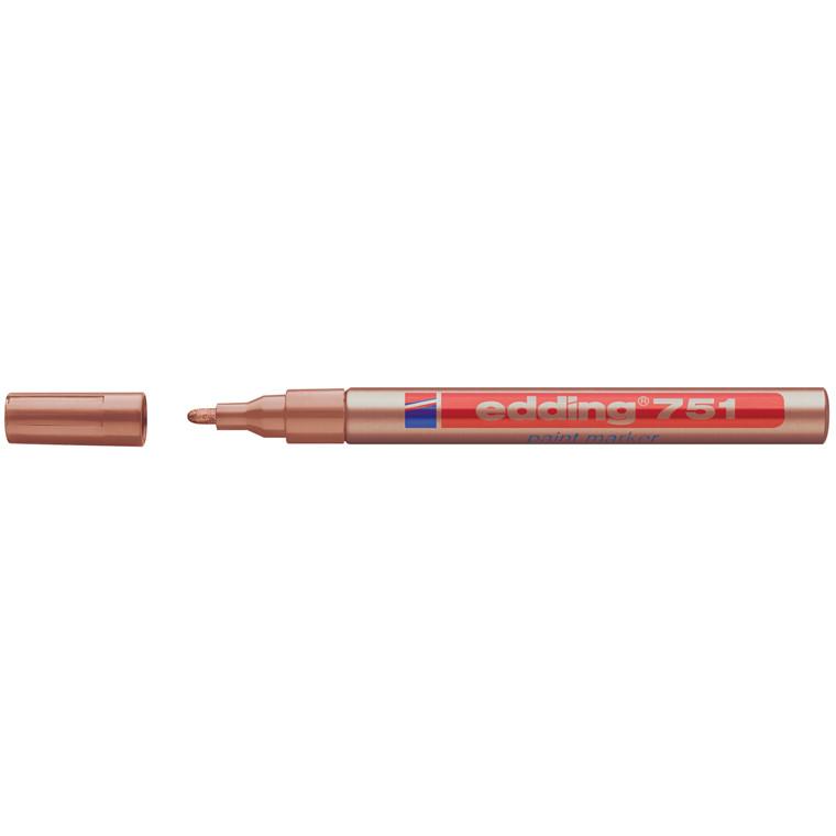 Edding 751 permanent kobber farve - Rund spids 1-2 mm
