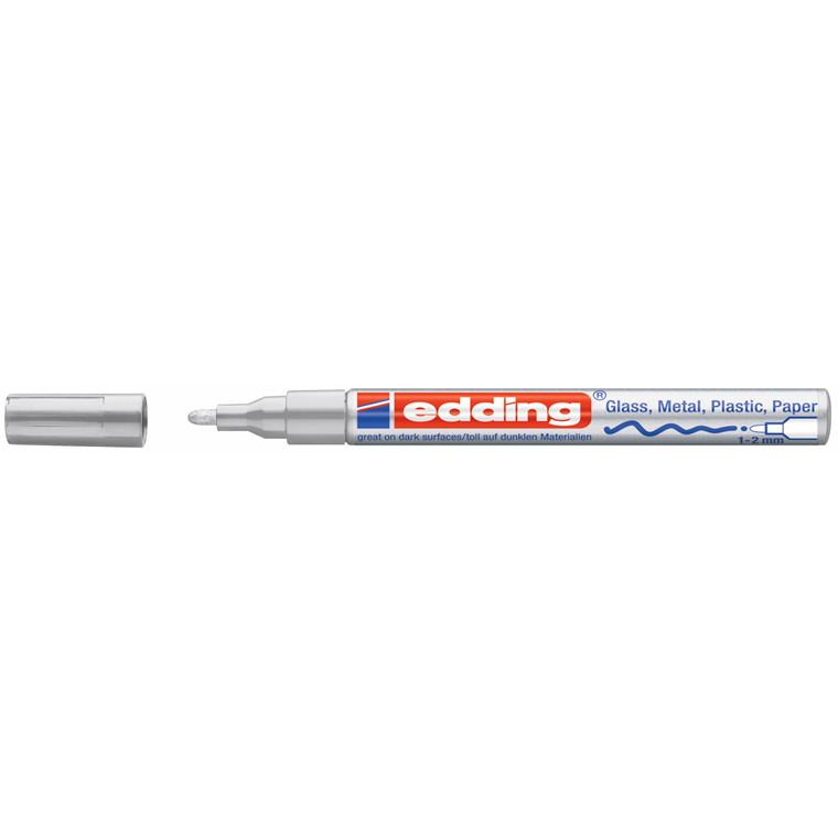 Edding 751 Marker - Permanent sølv rund spids 1-2 mm