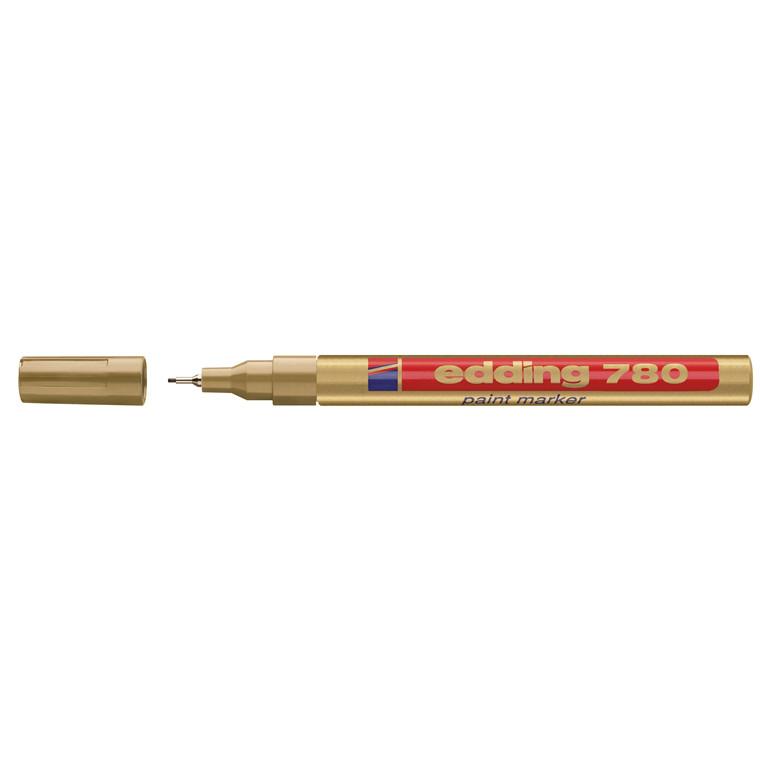 Edding 780 Marker - Permanent guld extra fine 0,8 mm