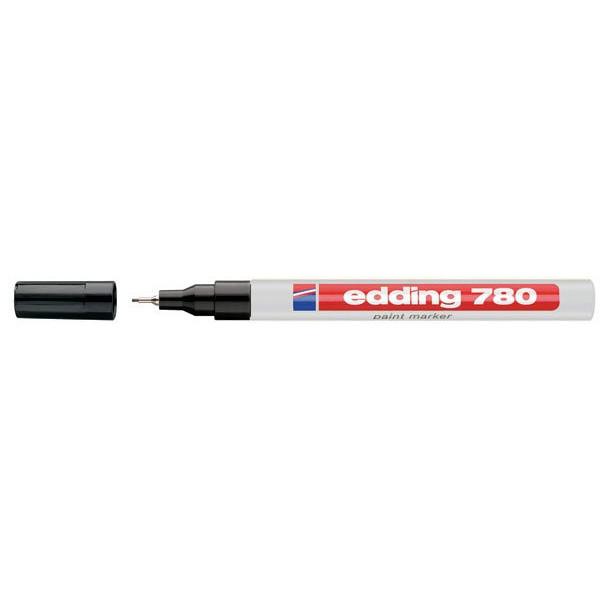 Edding 780 hvid permanent marker -  0,8 mm metalindfattet spids