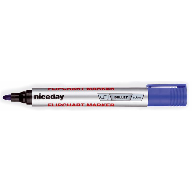 Marker niceday flipover blå 1-3mm permanent